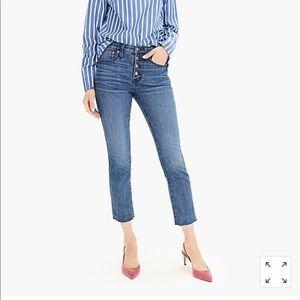 Vintage Straight J.Crew Dist Hem Jeans button fly